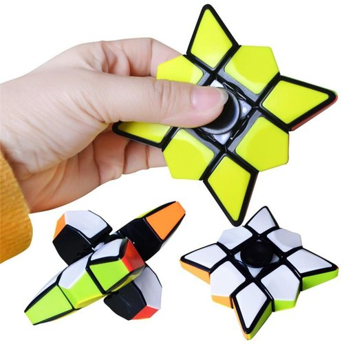Play N Learn IQ Cubic Spinner 2 in1 Fidget Spinner and Rubik Cube