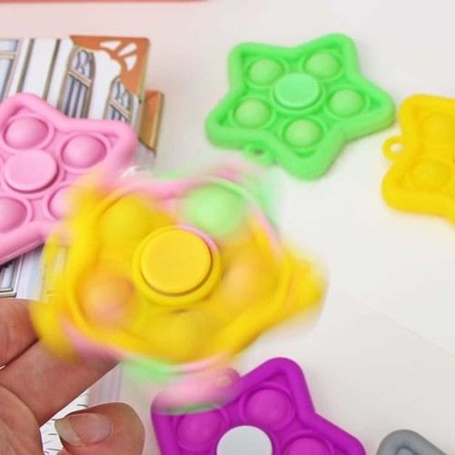 Play and Learn Educational Fidget Toy Stress Reliever  IQ Pop Fidget Spinner