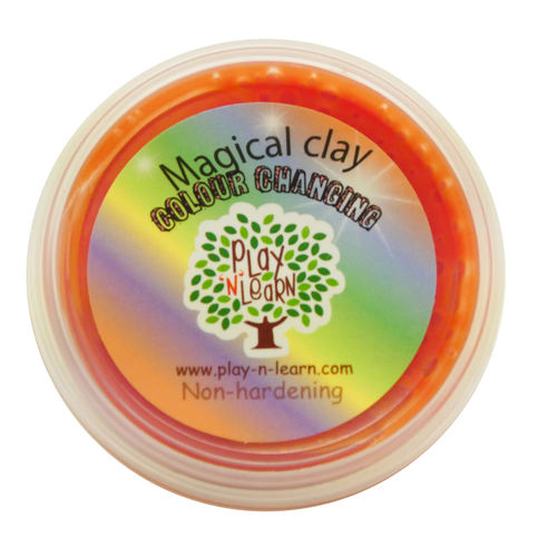 Play N Learn Orange Magical Colour Changing Clay