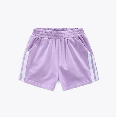 Children's Cotton Sports Shorts Purple