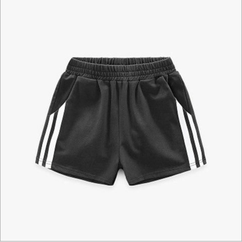 Childrens Cotton Sports Shorts Black