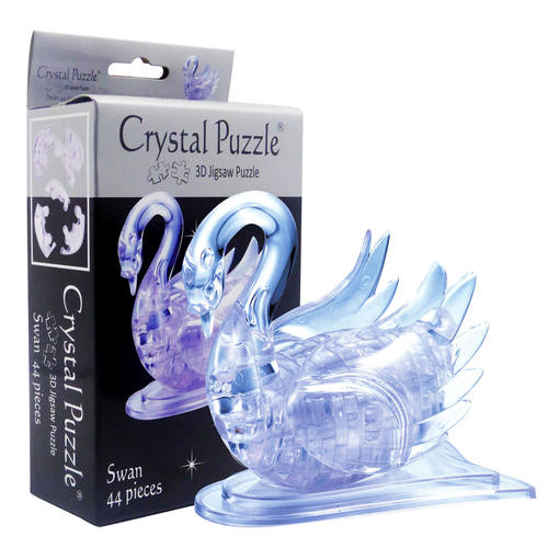 Clear Swan 3D Crystal Puzzle