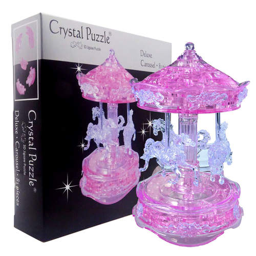 Carousel ( Pink) Challenging 3D Crystal Puzzle