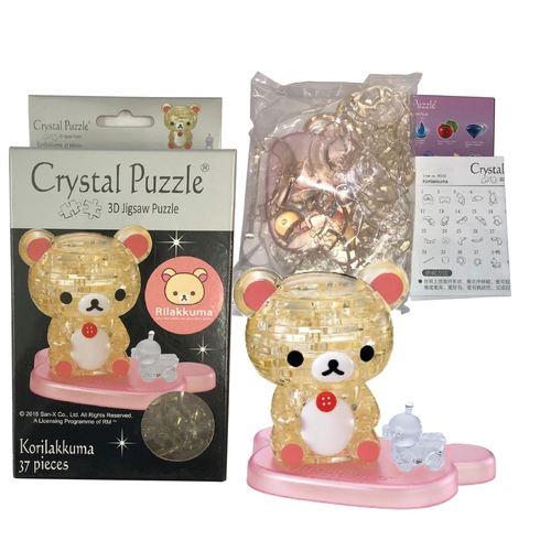 Jigsaw Puzzle Play N Learn 3D Crystal Puzzle Korilakkuma