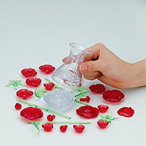 Six Roses Red 3D Crystal Puzzle