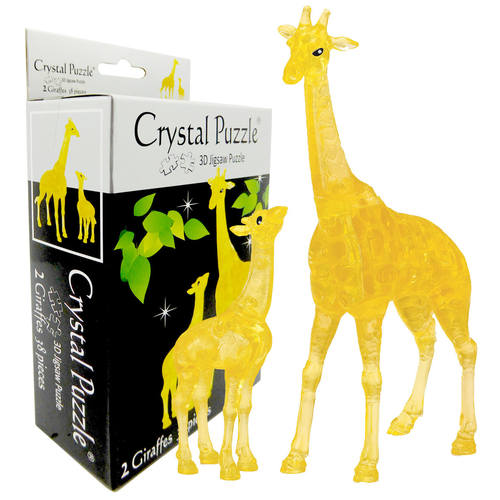 3D Crystal Puzzle Giraffe & Baby Set