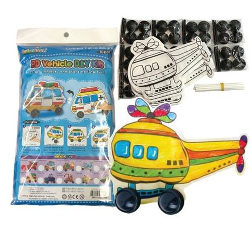 Play N Learn Colorloon / 3D Vehicle DIY Kit - Helicopter