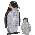 Jigsaw 3D Crystal Puzzle Play N Learn Penguin Mummy and Baby Gift Set