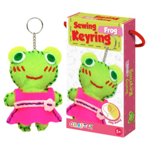 Play N Learn Art & Craft Frog Sewing Keyring