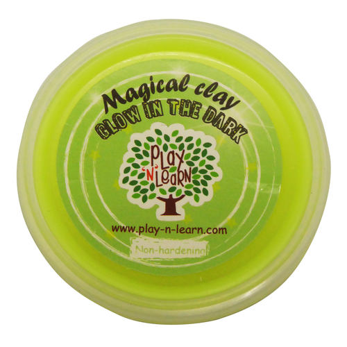 Play N Learn Yellow Glow In The Dark Magical Clay