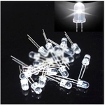 Science Experiment Components Play N Learn White Led Bulbs  5mm  10 Pieces