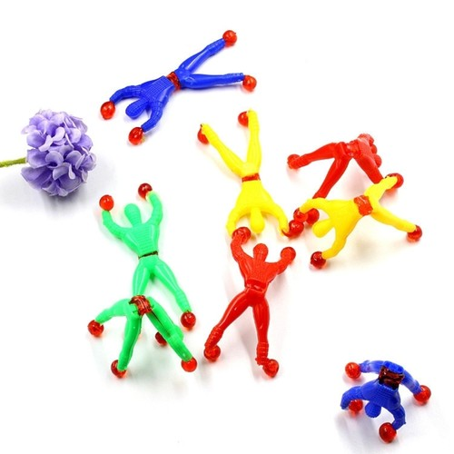 Science Toy Sticky Spiderman Climbing Wall Elastic Stretchy Party Gift Toy ( 10 pieces per set )