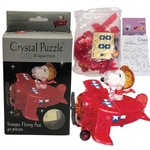 Jigsaw Puzzle Play N Learn 3D Crystal Puzzle Snoopy Flying Ace