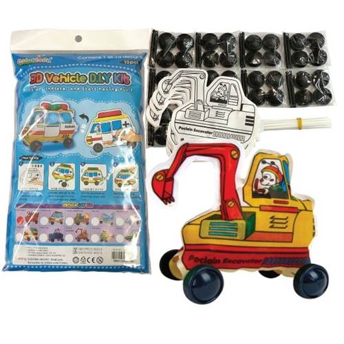 Play N Learn Colorloon / 3D Vehicle DIY Kit - Poclain Excavator ( 10 PCS )