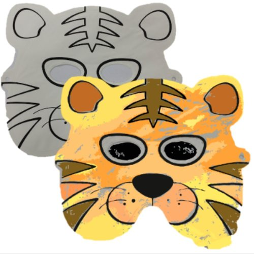 Design And Inflate Mask Tiger