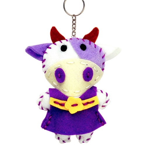 Play N Learn Art & Craft Cow Sewing Keyring