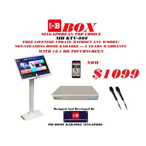 MB Home Karaoke Touchscreen With Box VER 2 System Cover With Copyright License
