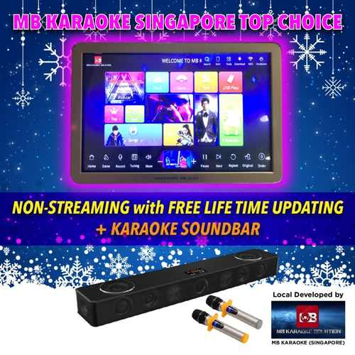 MB Full Home Karaoke touchscreen system(Non-streaming online update (Free lifetime update-2 years warranty )