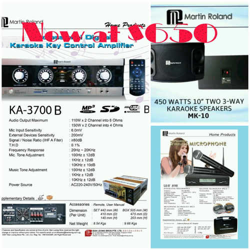 Martin Roland karaoke system package