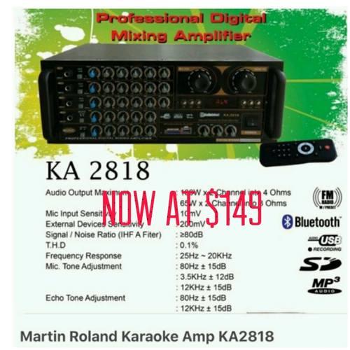 Martin Roland karaoke amp KA-2818