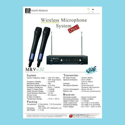 Martin Roland karaoke wireless microphone