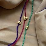 Heart Charm RakhiBracelet Ruby