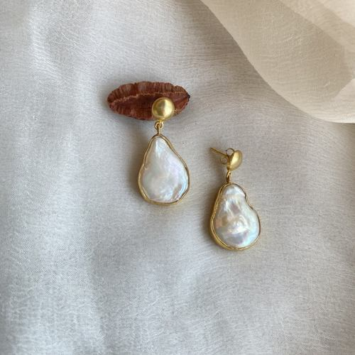 Uneven Pearl Earrings