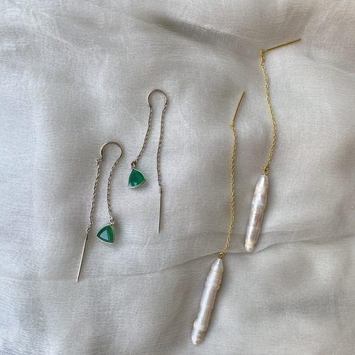 Natural Pearl Threader - Gold