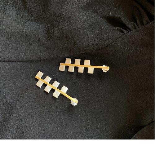 Poet Earrings  (Size-S)