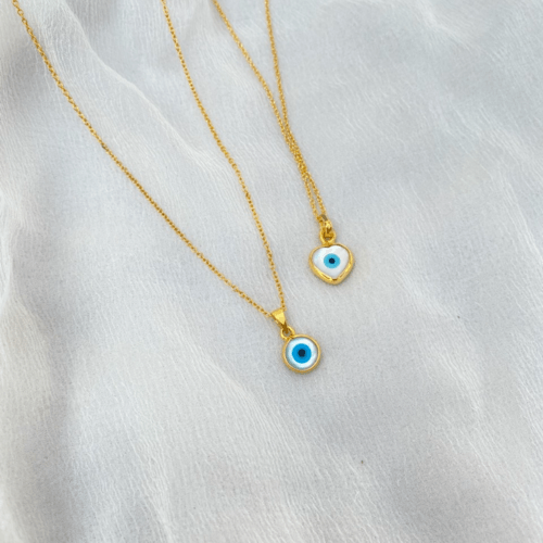 Evil eye necklace Heart