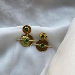 Riley Earrings Emeralds
