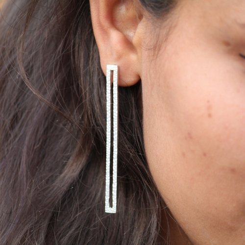 Statement Textured Earring