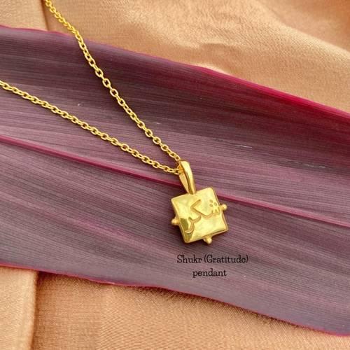 Shukr pendant + chain
