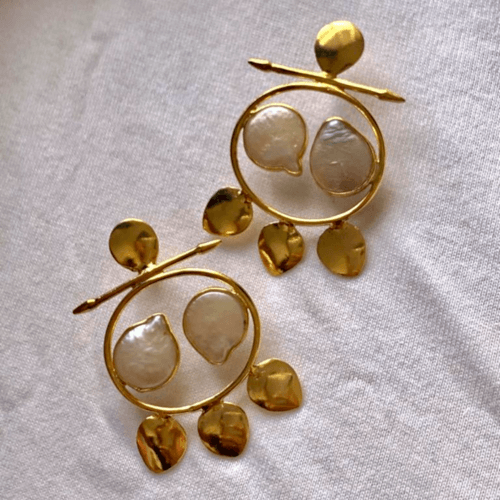 Gulfam pearl earrings