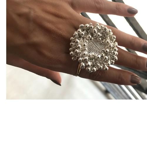Handmade Silver Ghungroo Ring