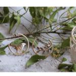 Handmade Silver Mismatch Bird Hoops