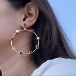 Navratna Earrings Pre-Order