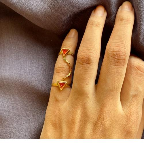Dark Citrin dual ring