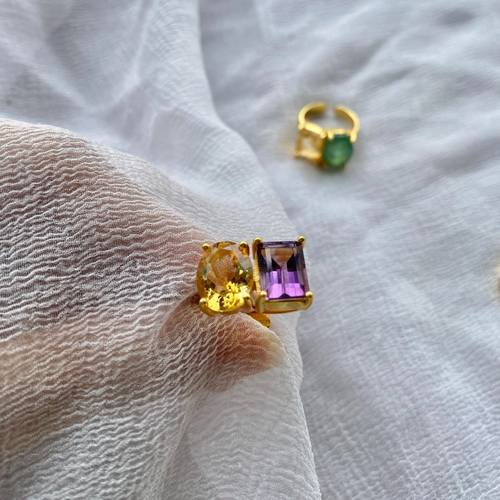 Amethyst - Citrine Ring