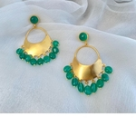 Noor Chand  Earrings - Emeralds