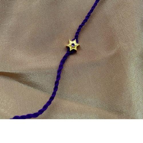 Star Charm RakhiBracelet Amethyst