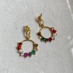 Navratana Dangler Earrings