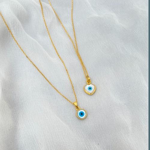 Evil Eye necklace Round