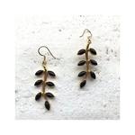 Onyx leaf Earrings