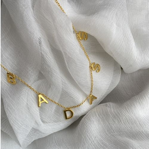 Letter Necklace- BADASS