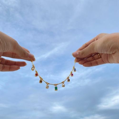 Navratana Bar Bracelet