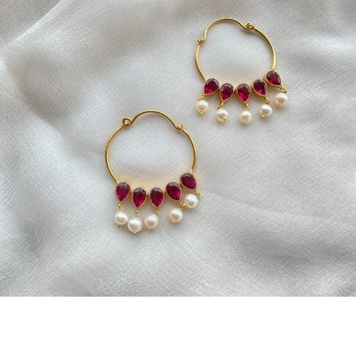 Nazaakat Earrings Rubies