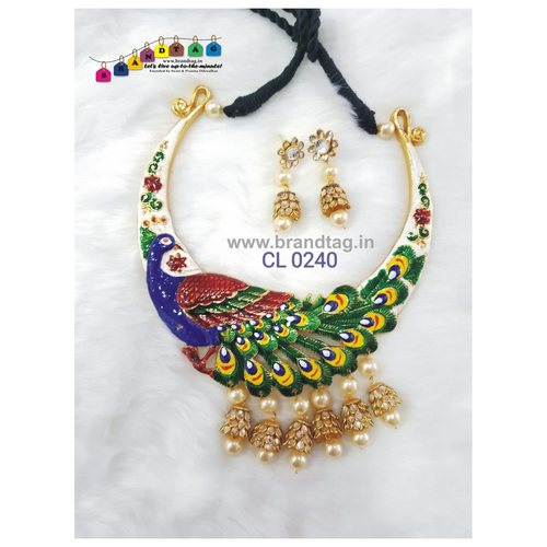 Fascinating Peacock Necklace set !
