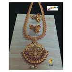 Exquisite Baahubali Divine Temple Long Necklace Set!!!