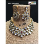 Finely Designed Polki Necklace Set!!